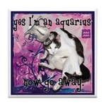 Cat Aquarius Tile Coaster