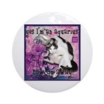 Cat Aquarius Ornament (Round)