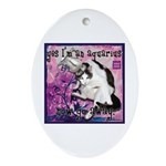 Cat Aquarius Ornament (Oval)
