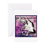 Cat Aquarius Greeting Card