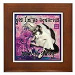 Cat Aquarius Framed Tile
