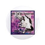 "Cat Aquarius 3.5"" Button"