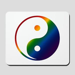 Gay Yin and Yang Mousepad