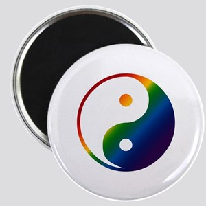 Gay Yin and Yang Magnet