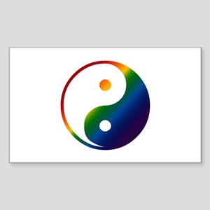Gay Yin and Yang Rectangle Sticker