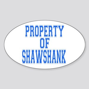 Property of Shawshank Oval Sticker