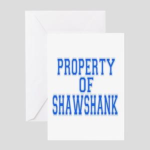 Property of Shawshank Greeting Card