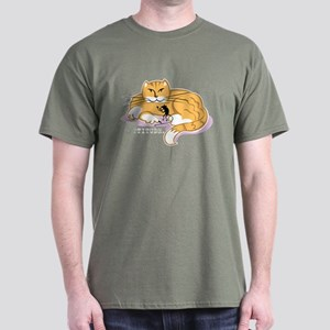 Cattitude and Mouse Dark T-Shirt
