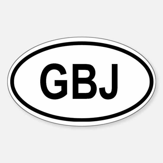 Jersey Oval Decal