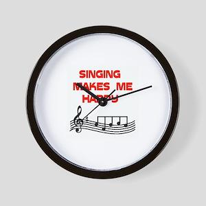 HAPPY SINGER Wall Clock