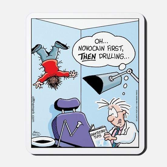 Novocain Drilling Instructions Mousepad