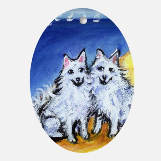 American Eskimo dogs at the b Keepsake (Oval)