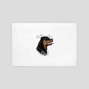Rottweiler Dad 4' x 6' Rug