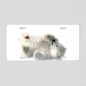 Baby Polar Bear Aluminum License Plate