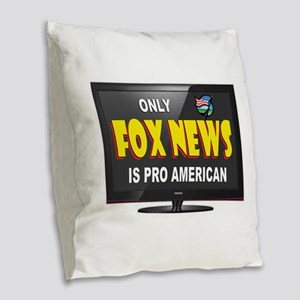 FOX NEWS Burlap Throw Pillow