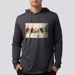 Patriotic Dogs WW1 Pit Bull Terrier Long Sleeve T-