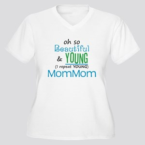 Beautiful and Young MomMom Women's Plus Size V-Nec