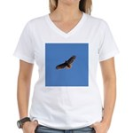 Red-Tailed Hawk Women's V-Neck T-Shirt