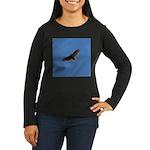 Red-Tailed Hawk Women's Long Sleeve Dark T-Shirt