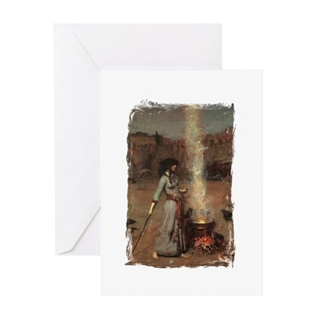 The Magic Circle by JW Waterhouse Greeting Card