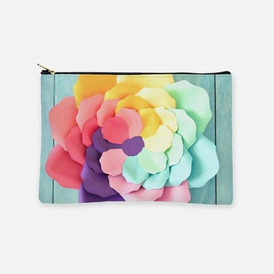 Colorful Rose Makeup Bag