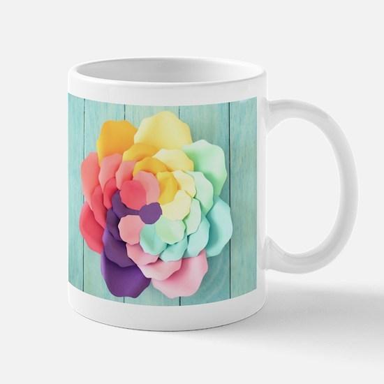 Colorful Rose Mugs