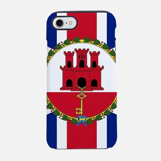 Gibraltar Governor Flag iPhone 8/7 Tough Case
