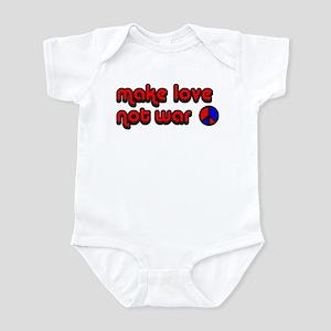Make Love, Not War Retro Infant Bodysuit