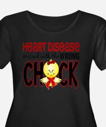 Heart Disease Messed With Wrong Chick Plus Size T-