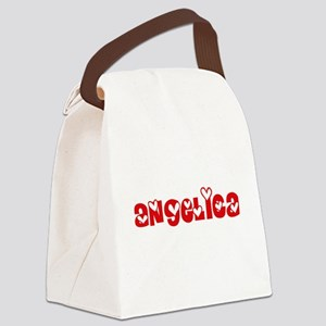 Angelica Love Design Canvas Lunch Bag