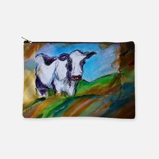 Cow! Bright, animal art! Makeup Bag