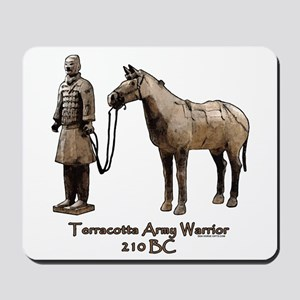 Terracotta Army Warrior Horse Mousepad