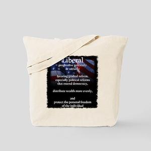 Liberal vs. Conservative Definations Tote Bag