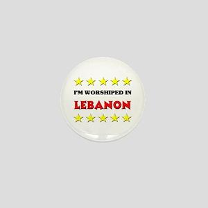 I'm Worshiped In Lebanon Mini Button