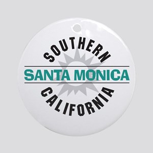 Santa Monica California Ornament (Round)
