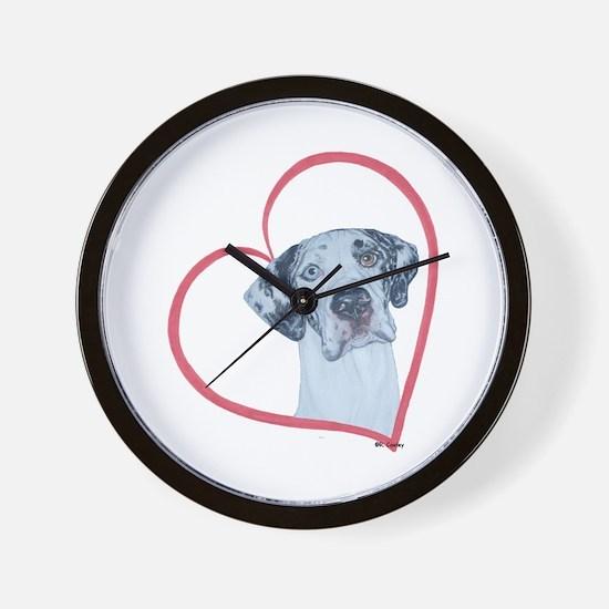 N Heartline Mrlqn Wall Clock