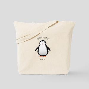 Creative Black Tie Penguin Tote Bag