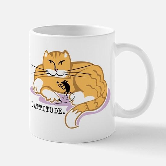 Cattitude and Mouse Mug