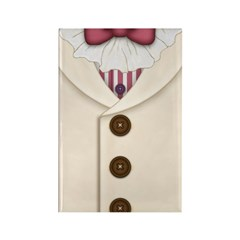 Ivory Suit with Striped Vest and Bowtie Magnet
