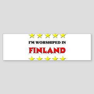 I'm Worshiped In Finland Bumper Sticker