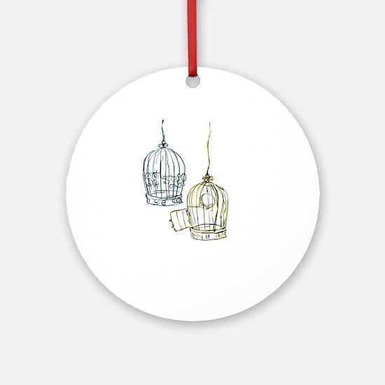 Birdcage 2 Round Ornament