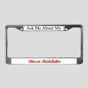 """Ask About My Stude"" License Plate Frame"