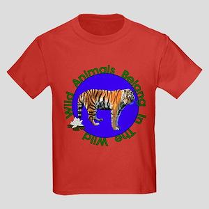 Tatiana The Tiger Kids Dark T-Shirt