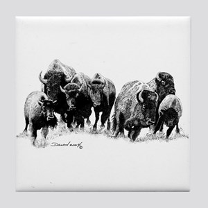 Buffalo Herd Tile Coaster