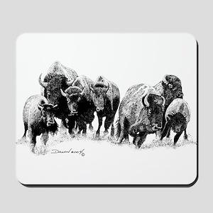 Buffalo Herd Mousepad