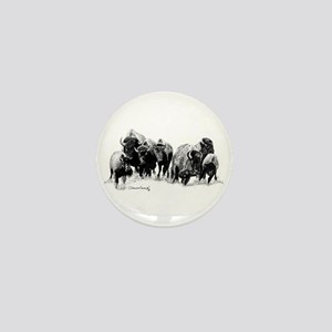 Buffalo Herd Mini Button
