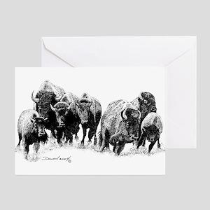 Buffalo Herd Greeting Card