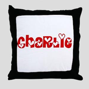 Charlie Love Design Throw Pillow