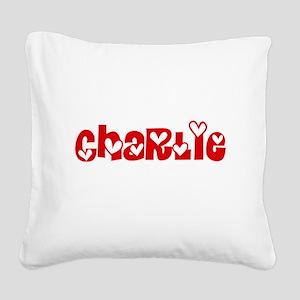 Charlie Love Design Square Canvas Pillow