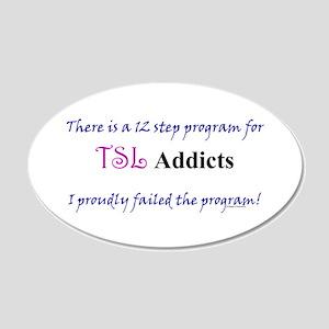 12 Step TSL Program 20x12 Oval Wall Decal